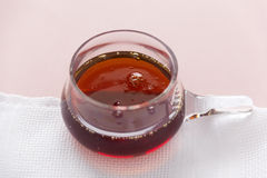 Maple Syrup. Bowl of delicious thick maple syrup ready for serving as a condiment Stock Photography
