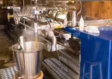 Maple syrup evaporator royalty free stock photography