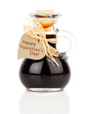 Maple syrup in glass bottle Royalty Free Stock Photo