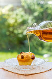 Maple Syrup on muffin Royalty Free Stock Photography