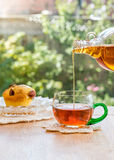 Maple Syrup in in tea. Stock Photos
