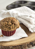 Maple Walnut Muffin on TreeRing Board Stock Image