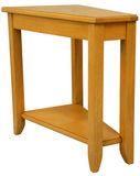 Maple Wood End Table. Maple Wood Wedge Shaped End Table in Natural Finish Stock Photography