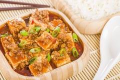 Mapo-Tofu Lizenzfreies Stockbild