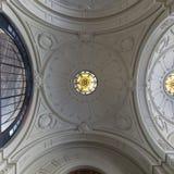 Mapocho Train Station ceiling, Santiago de Chile royalty free stock image