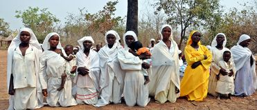 Mapostori Outdoor Church Sect Zimbabwe Stock Image