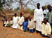 Mapostori utomhus- kyrklig sekt Zimbabwe arkivbild