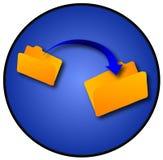 mappöverföring Fotografering för Bildbyråer