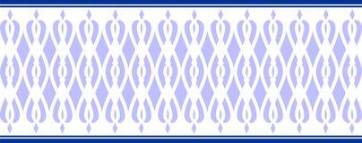 MAPP: Elegant dekorativ gräns som utgöras av flera blåa färger Royaltyfria Foton