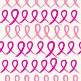 Mapp för modell EPS10 för rosa band för bröstcancermedvetenhet sömlös royaltyfri illustrationer
