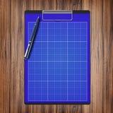 Mapp med papper och pennan, affärsidé Royaltyfria Bilder
