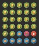 Mapp- och mappsymboler royaltyfri illustrationer