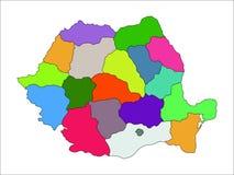 Mappa amministrativa della Romania Fotografia Stock