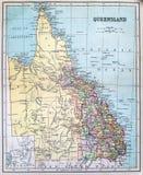 Mappa antica del Queensland Immagine Stock Libera da Diritti