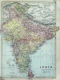 Mappa antica dell'India Immagini Stock Libere da Diritti