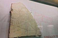 Mappa antica della città di Roma fotografia stock libera da diritti