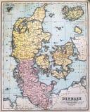 Mappa antica della Danimarca Immagine Stock Libera da Diritti