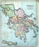 Mappa antica della Grecia antica Immagine Stock Libera da Diritti