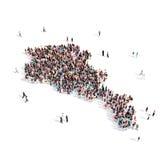 Mappa Armenia di forma del gruppo della gente Immagini Stock