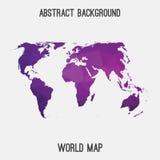 Mappa astratta del mondo Fotografia Stock