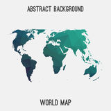 Mappa astratta del mondo Immagini Stock