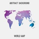 Mappa astratta del mondo Immagine Stock Libera da Diritti