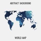 Mappa astratta del mondo Fotografie Stock