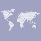 Mappa blu e bianca del mondo Fotografia Stock Libera da Diritti