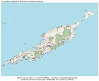 Mappa britannica dell'isola dei Caraibi di Anguilla Immagine Stock