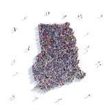 Mappa Chana di forma del gruppo della gente Immagini Stock