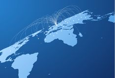 Mappa con il fondo di vettore dei collegamenti EPS10 Fotografie Stock Libere da Diritti