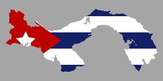 Mappa con la bandiera illustrazione di stock
