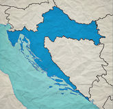 Mappa d'annata croata Immagini Stock