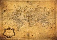 Mappa d'annata del mondo 1778 Fotografie Stock Libere da Diritti