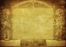 Mappa d'annata del mondo pubblicato nel 1847 Fotografia Stock