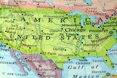 Mappa d'annata dell'America Fotografia Stock Libera da Diritti