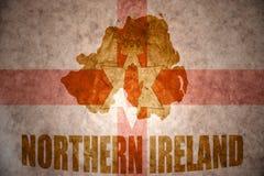 Mappa d'annata dell'Irlanda del Nord Immagine Stock