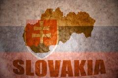 Mappa d'annata della Slovacchia Immagini Stock Libere da Diritti
