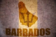 Mappa d'annata delle Barbados Immagine Stock Libera da Diritti