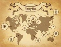 Mappa d'annata per il infographics Fotografia Stock Libera da Diritti