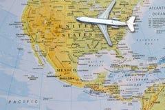 Mappa degli Stati Uniti continentali Immagine Stock