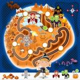 Mappa dei beni del gioco di Halloween Fotografia Stock Libera da Diritti