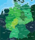 Mappa dei colori della Germania Fotografie Stock