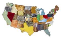 Mappa dei rifiuti degli Stati Uniti Immagini Stock