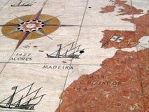 Mappa dei territori portoghesi Immagine Stock