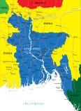 Mappa del Bangladesh Immagini Stock