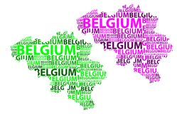 Mappa del Belgio - illustrazione di vettore Immagini Stock