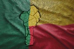 Mappa del Benin Immagini Stock