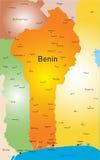 Mappa del Benin Fotografia Stock Libera da Diritti