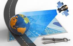 mappa del blu 3d Immagini Stock